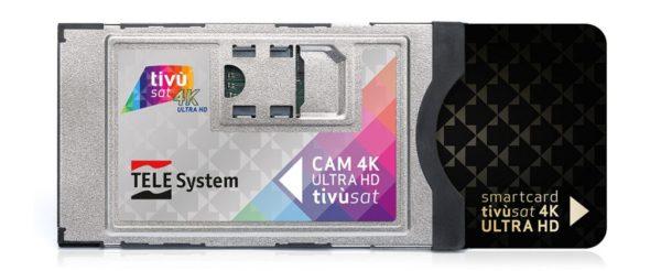 ABBINAMENTO SCHEDA TIVÙSAT VERSIONE BLACK 4K + SMART CAM CI+ NAGRAVISION UFFICIALE