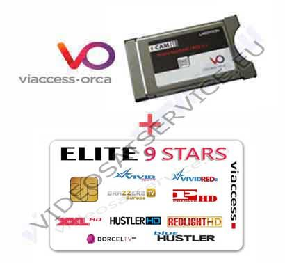 CAM VIACCESS + ELITE 9 STARS VIACCESS 9 CANALI