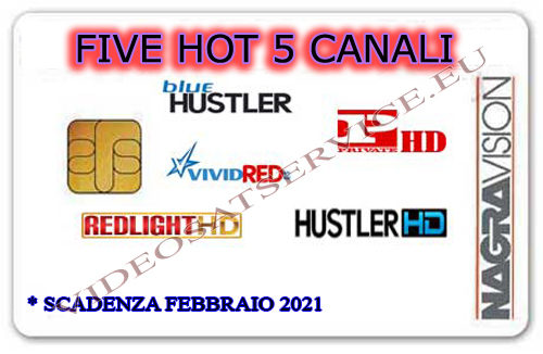 CARD FIVE HOT DA 5 CANALI NAGRAVISION